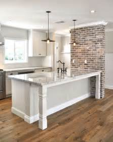 kitchen counter table design 25 best ideas about brick accent walls on pinterest