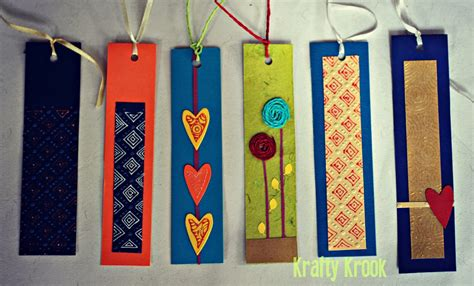 Handmade Bookmarks Designs - krafty krook bookworms for bookworms handmade bookmarks