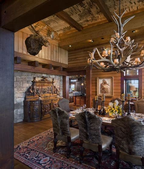 rustic dining room home architecture pinterest