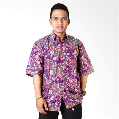 Kemeja Navy Mix Batik 01 Kemeja Maroon Mix Batik jual kemeja batik baju etnik pria harga terbaik blibli