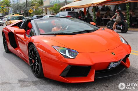 Lamborghini Aventador Roadster Orange Lamborghini Aventador Lp700 4 Roadster 27 April 2015