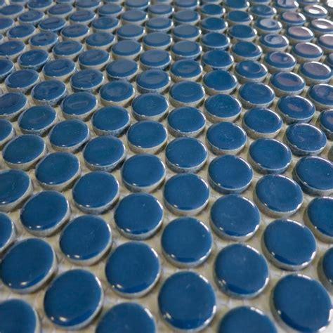 round bathroom tiles best 20 blue penny tile ideas on pinterest subway tile