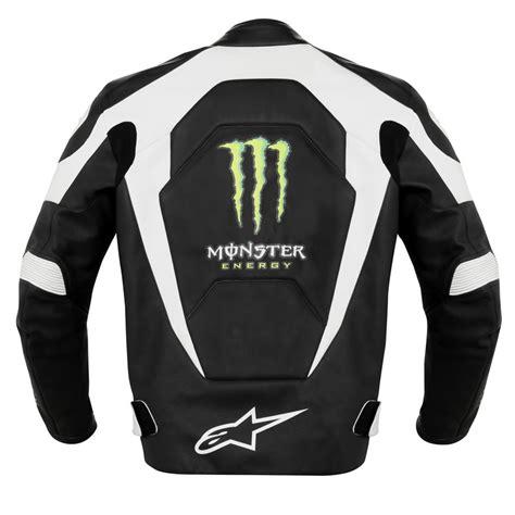 Monster Energy Motorrad by Motorrad Leder Sport Jacke Alpinestars Scream Offizielle