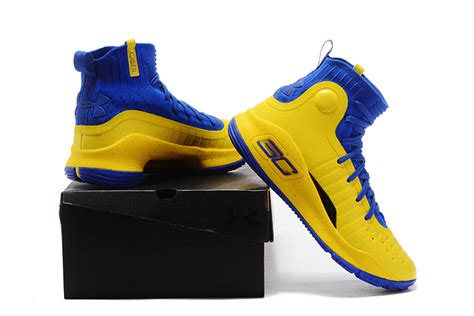 Curry 4 Black Blue cheap armour curry 4 yellow blue black for sale