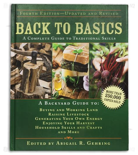 Back To Basics Handbook back to basics a complete guide to traditional skills by abigail r gehring blade hq
