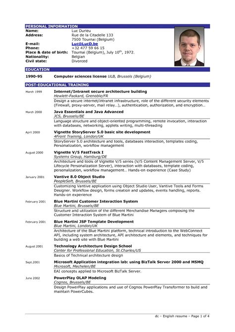 exles of a resume excellent resume sle sle resumes