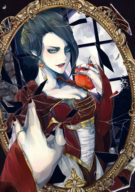 anime queen snow white and the evil queen fan art the evil queen