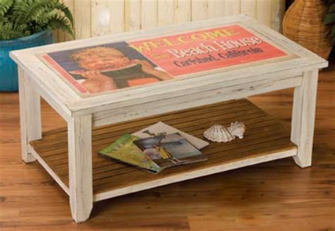 weathered white coffee table vintage sign coffee table weathered white