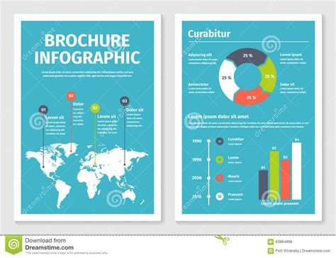 infographic brochure template modern business infographic brochure template 1 stock