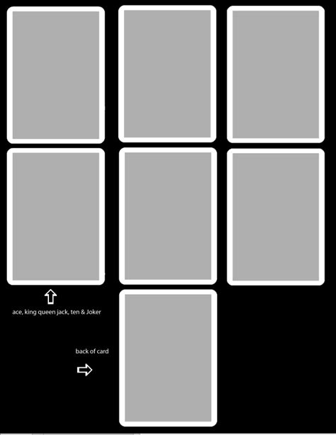 5 cards template card template free by thevodkaboy on deviantart