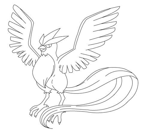 Articuno Coloring Pages articuno lineart by kasanelover on deviantart