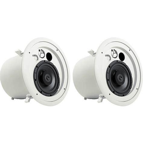 atlas sound fap82t coaxial 70v ceiling speakers pair fap82t