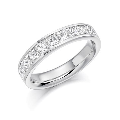platinum 1 5ct princess cut diamonds vintage wedding ring