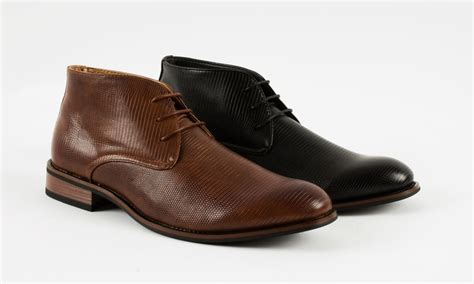 mens boots deals signature s dress chukka boots groupon