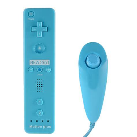 2in1 motion plus remote nunchuck controller for