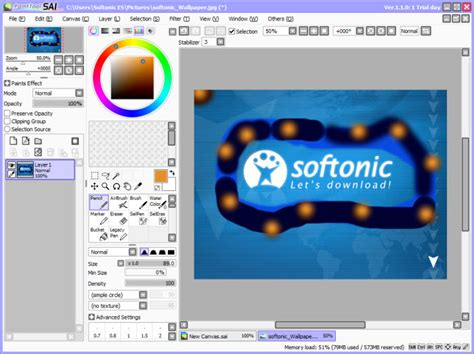 paint tool sai free version desenhar softonic