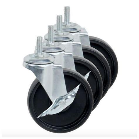 4 Swivel Locking Casters Wheels Heavy Duty Threaded 4 Swivel Chair Casters