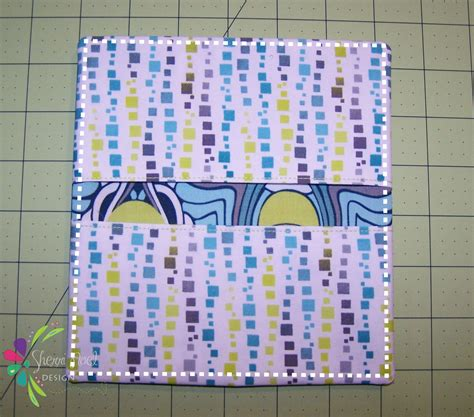 cover patterns sewing simple checkbook cover tutorial