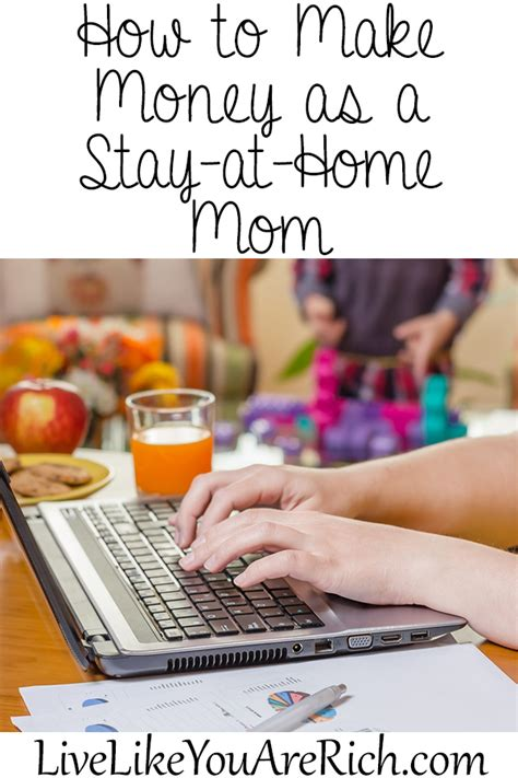 how to make money as a stay at home live like you