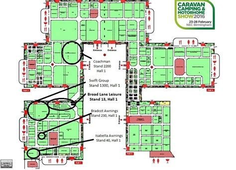 nec birmingham floor plan nec caravan cing and motor home show 2016