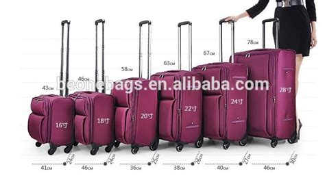 cabin baggage measurements luggage size chart alibaba express various size