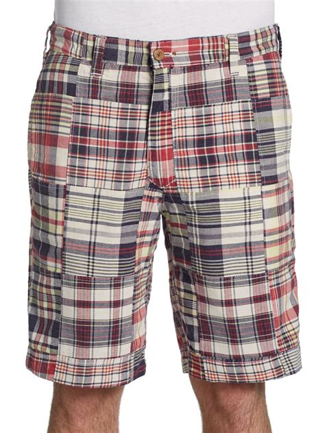 Plaid Shorts tailor vintage reversible madras plaid shorts in