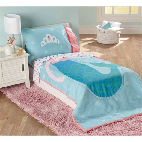 mermaid bed child of mine by carter s mermaid 4 piece toddler bedding
