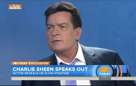 sheen on the today show quot i am in fact hiv