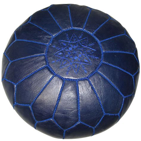 moroccan pouf navy blue leather rosenberryrooms com
