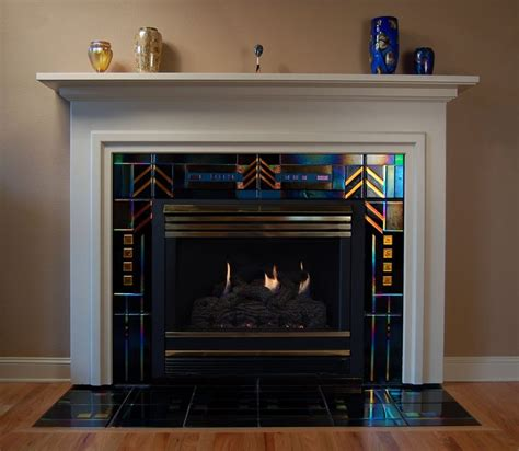fused glass tile fireplace stuff a bit of