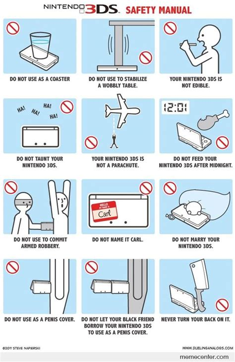Ds Memes - nintendo 3ds safety manual by ben meme center