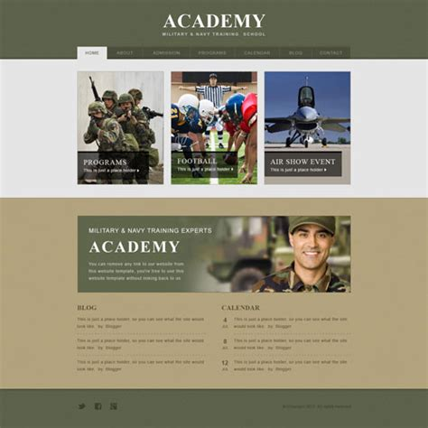 Army Academy Website Template Free Website Templates Free Website Templates For Academy