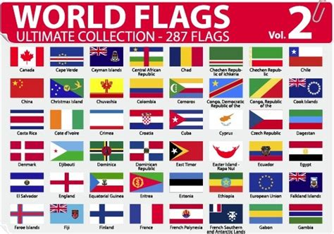flags of the world eps free download various of world flags vector set free vector in