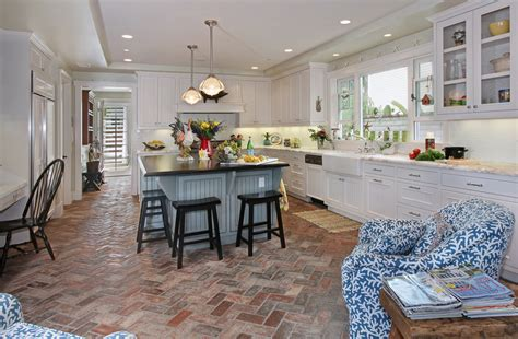 Brick Kitchen Floor 30 Floor Tile Designs For Every Corner Of Your Home