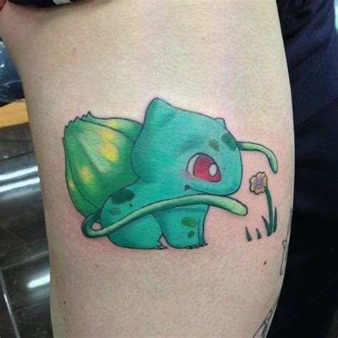 bulbasaur tattoo bulbasaur done by dahlia rose tattoo ink