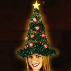 light up christmas tree hat by fun world christmas