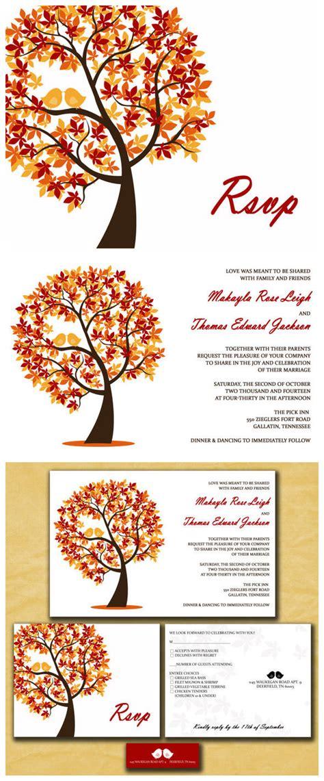 fall leaves wedding invitation kits amazing colors for fall wedding invitations