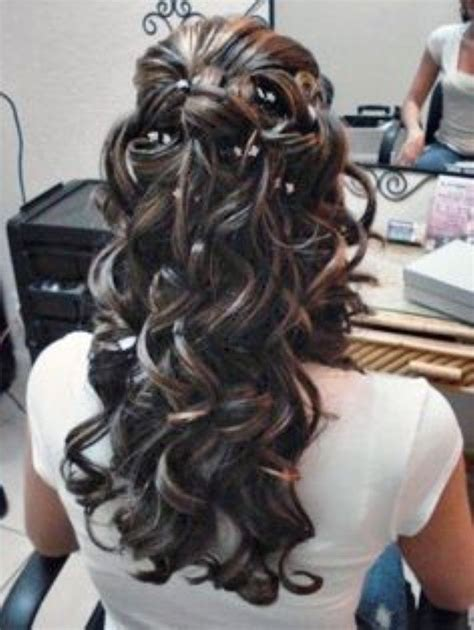 curly hairstyles quinceanera quinceanera tiara hairstyles google search quince