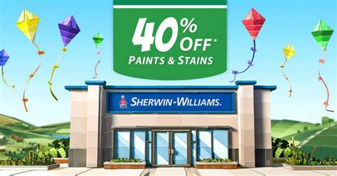 sherwin williams paint sale 2017 sherwin williams 40 off paints stains 10 off 50