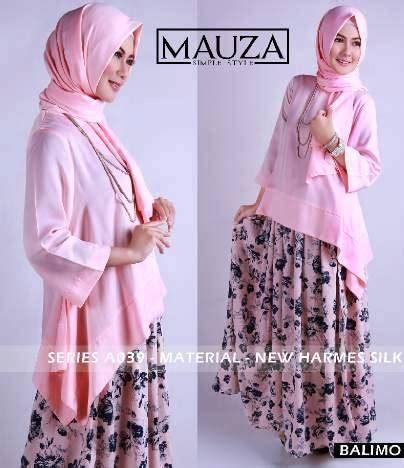 Baju Muslimah Esme E 010311 Pink Summer Dress mauza v2 pink baju muslim gamis modern