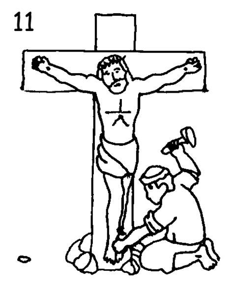 imagenes del via crucis en blanco y negro via crucis en dibujos para iluminar homeschooling cat 243 lico