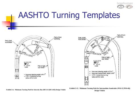 Ppt Design Vehicles And Turning Radii Powerpoint Presentation Id 259312 Truck Turning Templates