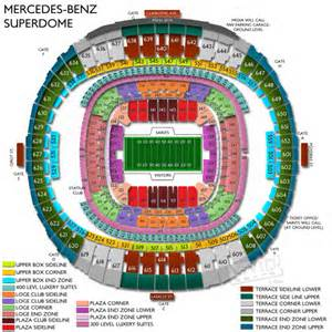 Mercedes Superdome Map Mercedes Superdome Seating Chart