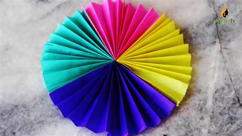 Origami Paper Fan - paper fan medallion diy origami paper crafts by