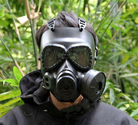 Masker Fogging tactical skull masks resin fog fan gas masks for