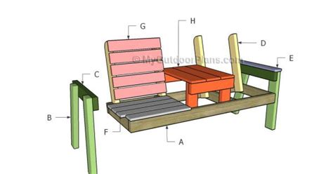 building a bbq bench double chair bench with table plans free outdoor plans