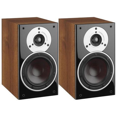 dali zensor 1 bookshelf speakers pair light walnut