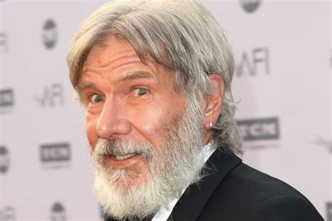 new harrison ford harrison ford rocks a new look as he honours