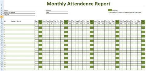 employee attendance calendar printable attendance sheet  excel attendance sheet