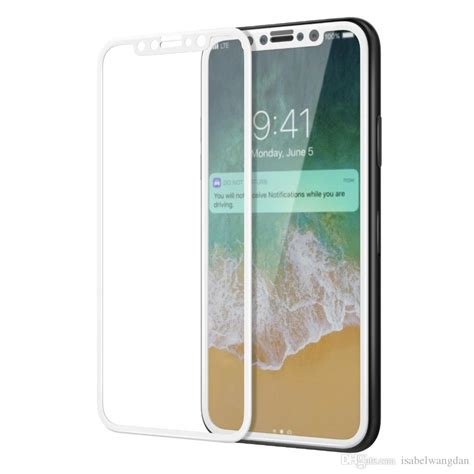 Iphone X Tempered Glass 3d Color for iphone 8 plus iphone x 3d cover color tempered